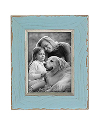 Antique blue solid wood photo poster picture painting frame