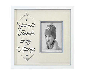 White solid wood picture photo frame