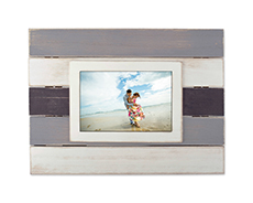 Antique multi-color solid wood photo frame