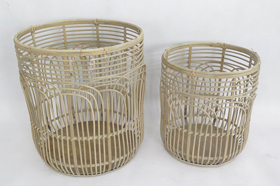Rattan Woven Plywood Round Baskets