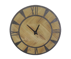 Wood Clock Dial with Numerals Painted Black Hand