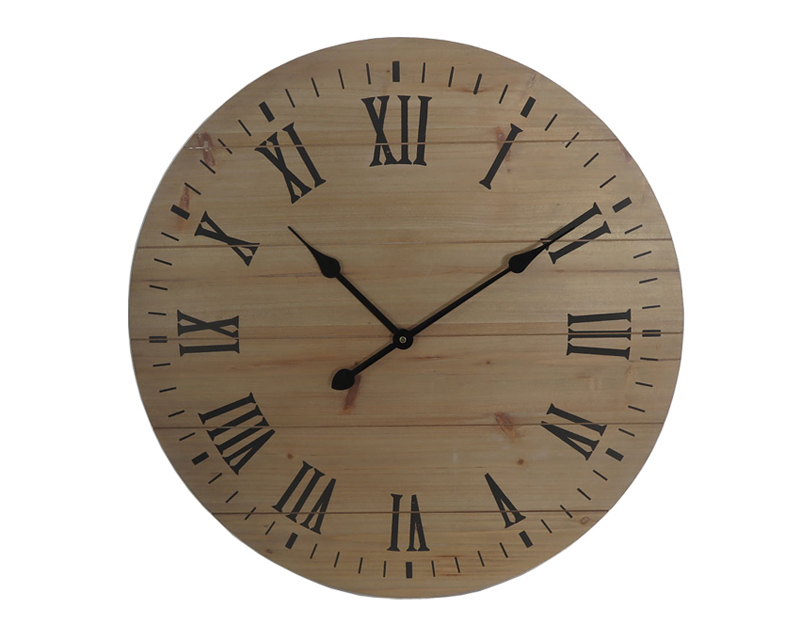 Burlywood Strip Clock Dial With Roman Numerals Black Hands