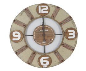 Fashion Wood Clock Rope Edge With Four Enlarged Numerals