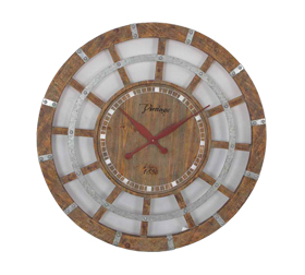 Vintage Wood Iron Wall Clock Iron Without Number