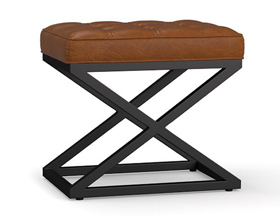 Modern Fashion Square artificial leather bench