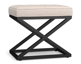 Modern and fashionable square iron cloth stool