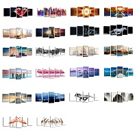 Five Panel Canvas Prints Wall Art