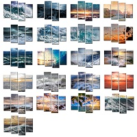 Four Panels Canvas Prints Wall Art